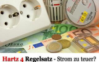 Hartz 4 Stromkosten - Regelsatz reicht nicht aus
