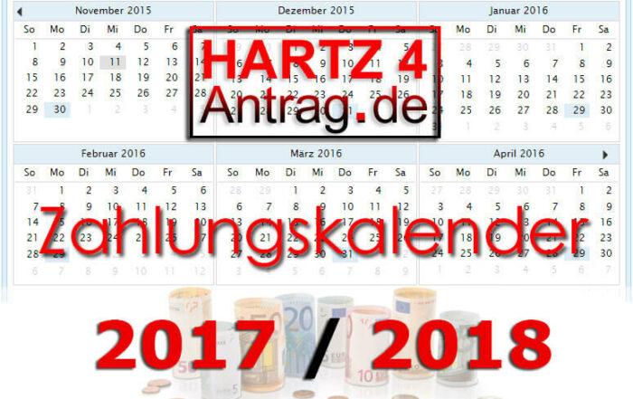 Hartz 4 Auszahlungstermine - Zahlungskalender 2017 & 2018